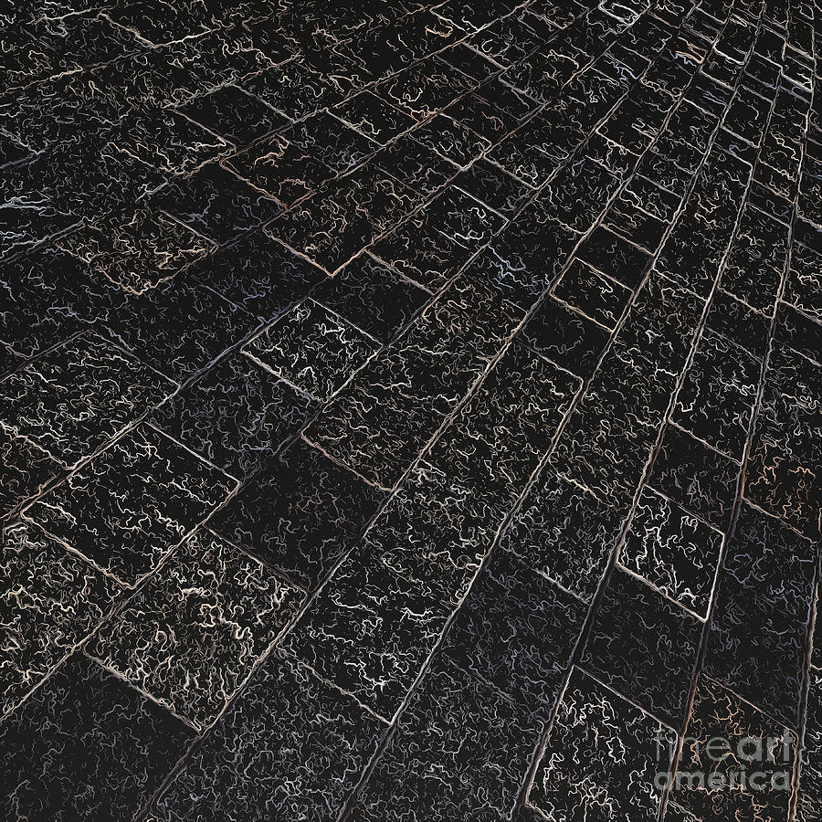 Abstract Digital Art - Abstract Path With Dark Background by Ken Schulze