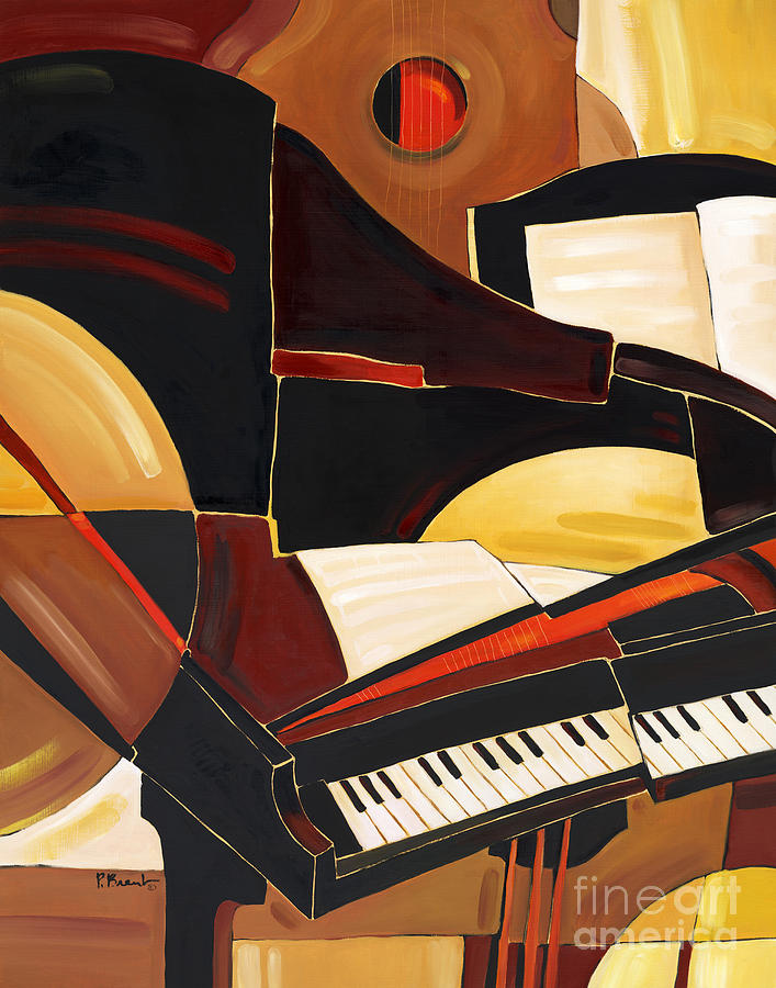 Music Painting - Abstract Piano by Paul Brent