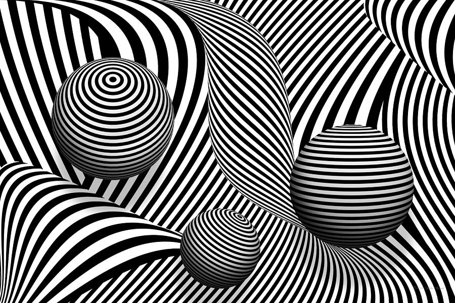 Synergy Digital Art - Abstract - Poke Out My Eyes by Mike Savad