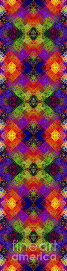 Abstract Digital Art - Abstract - Rainbow Connection - Panel - Panorama - Horizontal by Andee Design