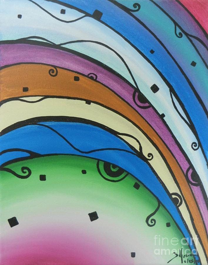 Rainbow Painting - Abstract Rainbow by Juan Molina