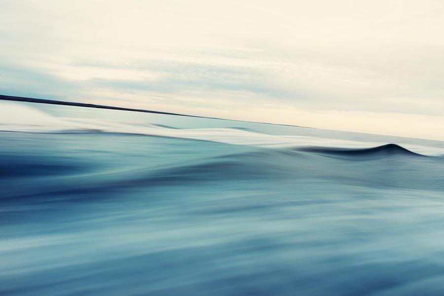 Abstract Sea and Sky Background Photograph by Kamisoka