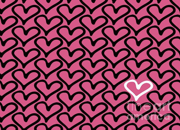 Love Digital Art - Abstract Seamless Heart Pattern by Ann Volosevich