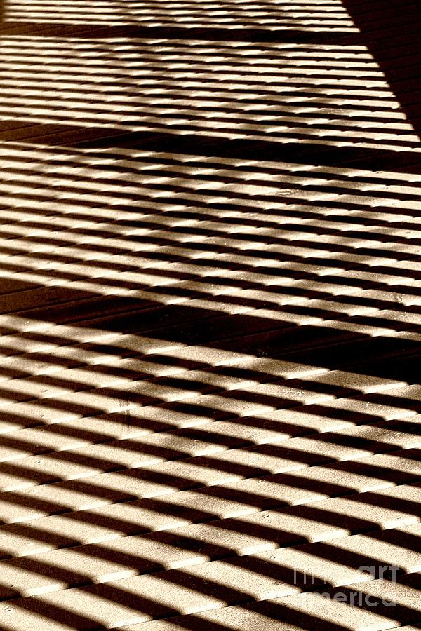 Abstract Shadows On Boardwalk Photograph