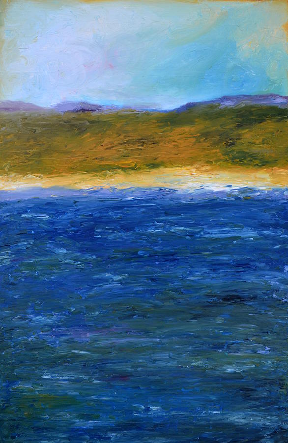 Abstract Shoreline Painting By Michelle Calkins