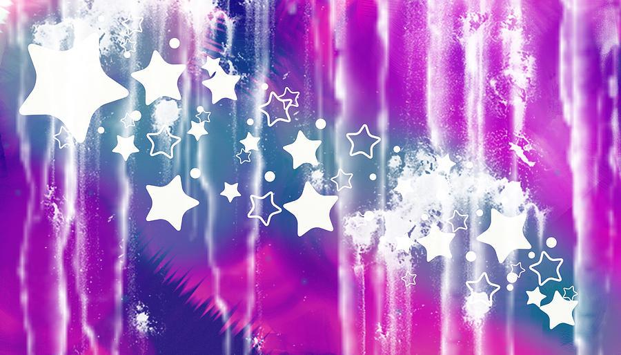 Abstract Digital Art - Abstract Star Fly by Mellisa Ward