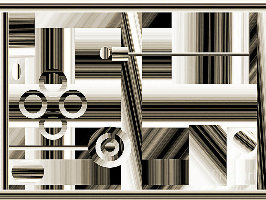 Abstract Digital Art - Abstract Station The Road To No Where by Andee Design