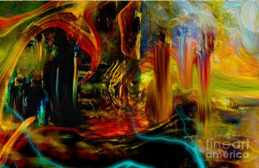 Digital Digital Art - Abstract Stranded Ship by Sherri  Of Palm Springs
