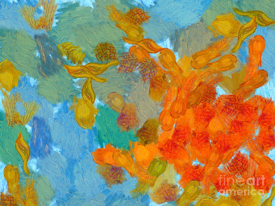 Van Gogh Painting - Abstract Summer #2 by Pixel Chimp