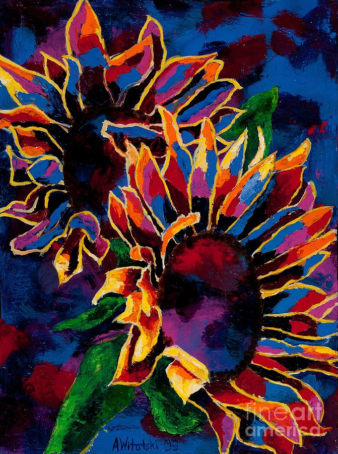 Abstract Art Sunflower Painting