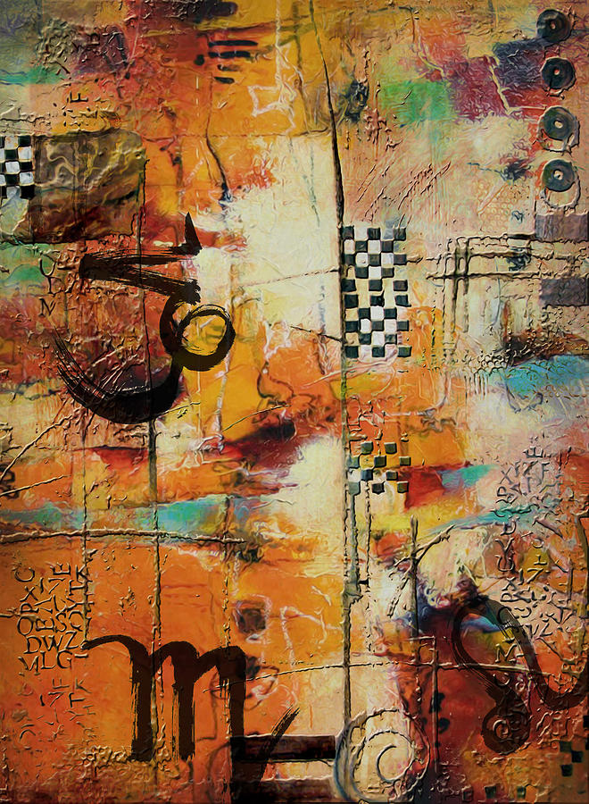 Virgo Painting - Abstract Tarot Art 010 by Corporate Art Task Force