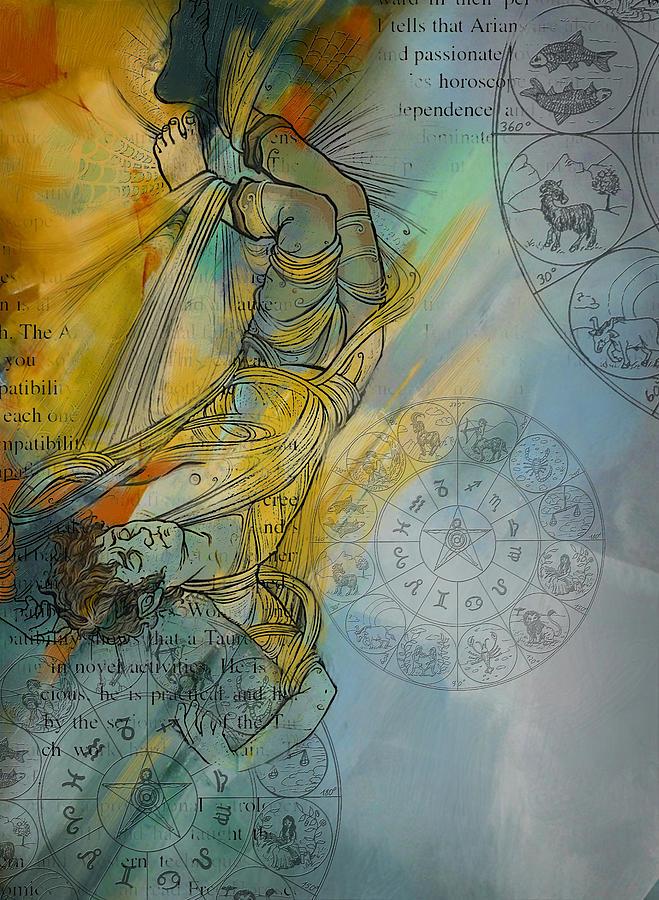 Torah Painting - Abstract Tarot Art 015 by Corporate Art Task Force