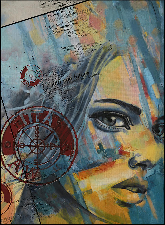 Numbers Painting - Abstract Tarot Art 022a by Corporate Art Task Force