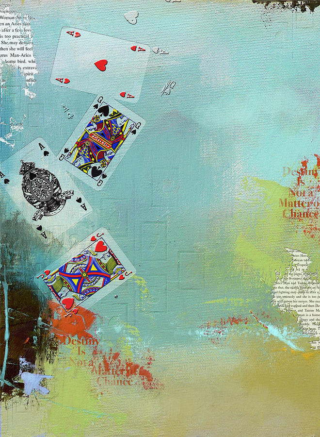 Playing Cards Painting - Abstract Tarot Card 009 by Corporate Art Task Force
