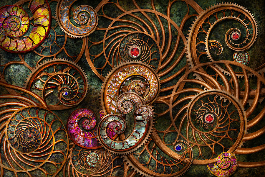 Steampunk Photograph - Abstract - The Wonders Of Sea by Mike Savad