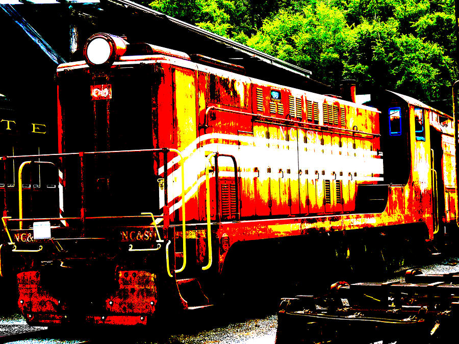 Train Photograph - Abstract Train Engine  by Mark Moore