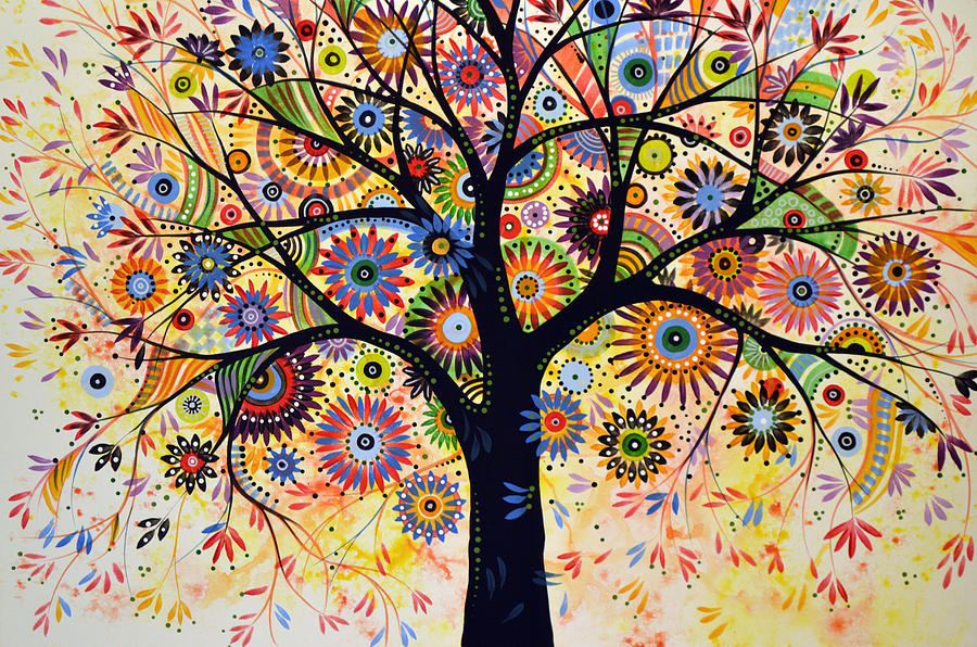 Tree Painting - Abstract Tree Painting ... Life Giver by Amy Giacomelli
