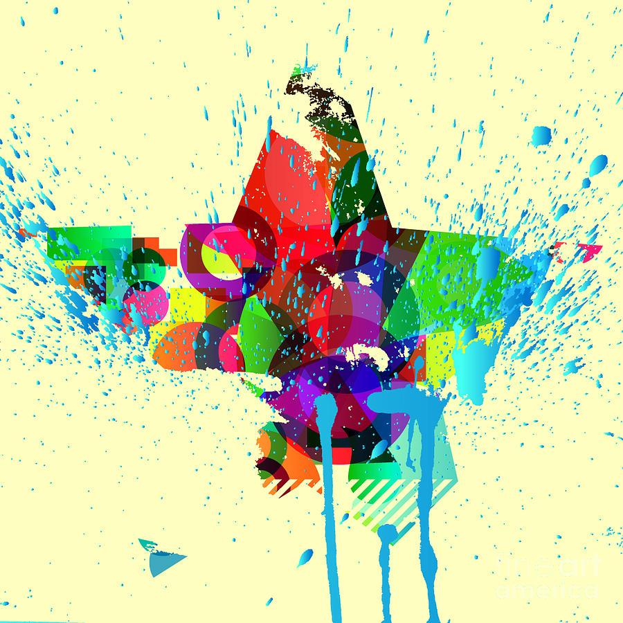 Splatter Digital Art - Abstract Vector Background by Serg001