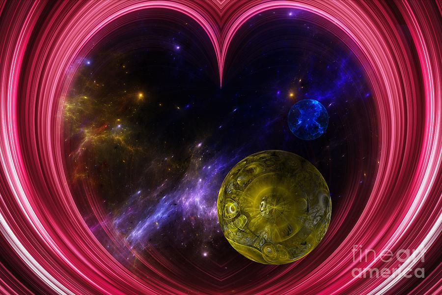 Heart Shape Digital Art - Abstract View Of The Universe by Laxmikant Chaware