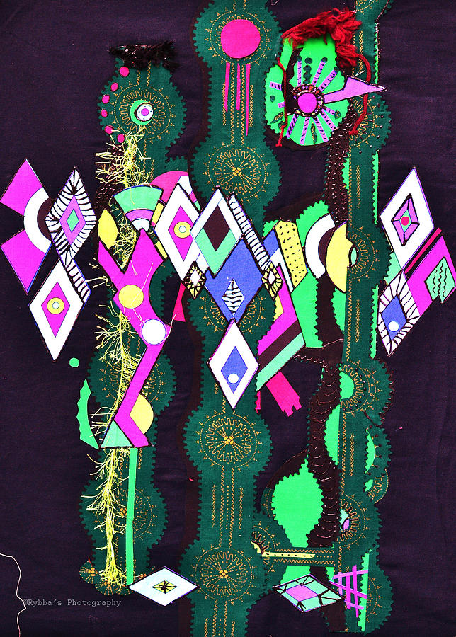 Abstract Figures Tapestry - Textile - Abstract Warriors by Ruth Yvonne Ash