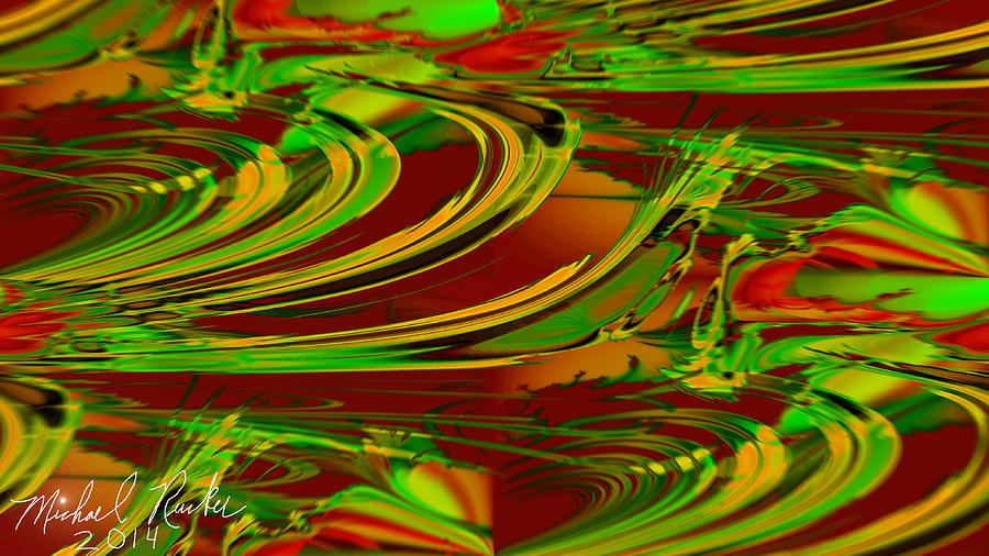 Abstract Digital Art - Abstract Waves by Michael Rucker