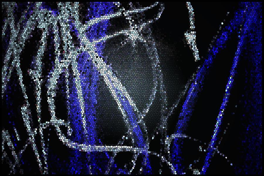 Mosaic Digital Art - Abstract White by Aya Murrells