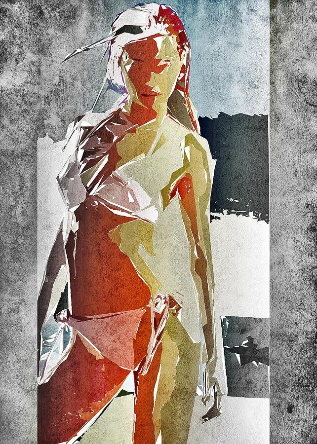 Woman Digital Art - Abstract Woman by David Ridley