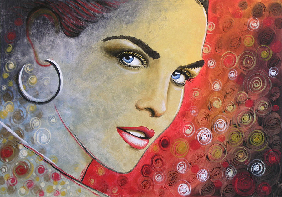 abstract woman painting print true painting by amy giacomelli