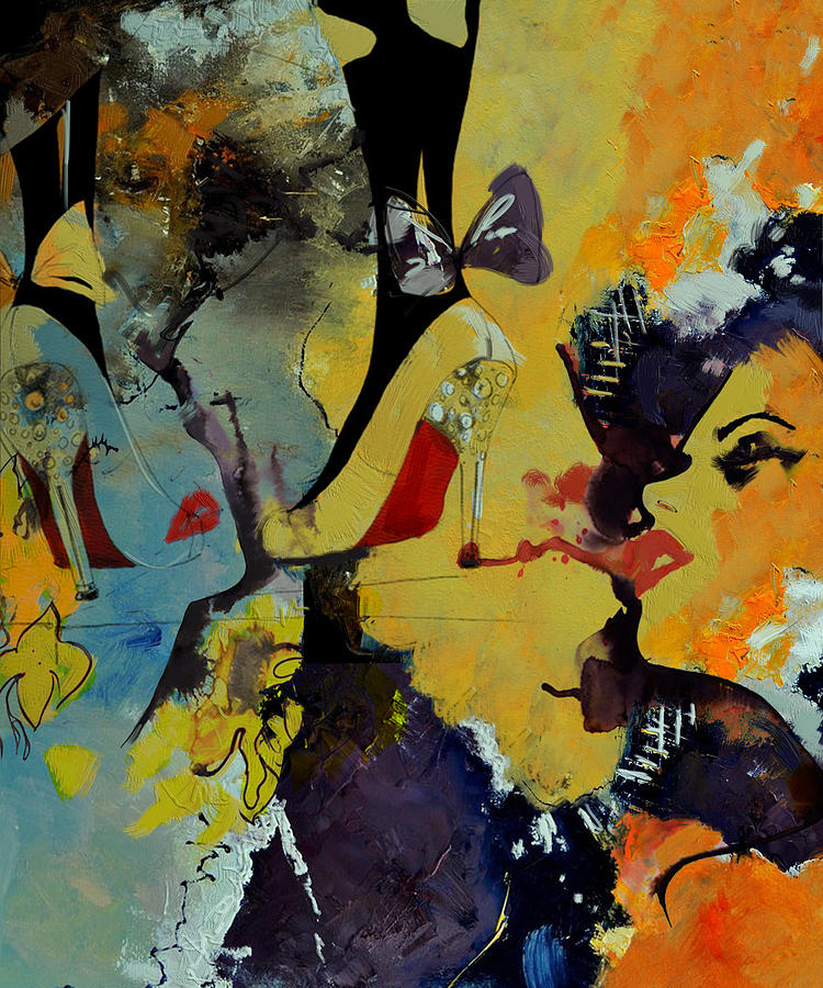 Women Painting - Abstract Women 010 by Corporate Art Task Force
