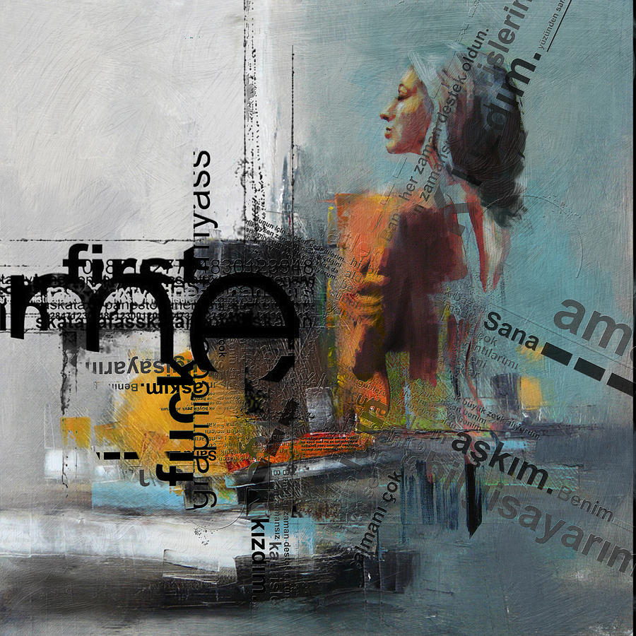 Women Painting - Abstract Women 013 by Corporate Art Task Force