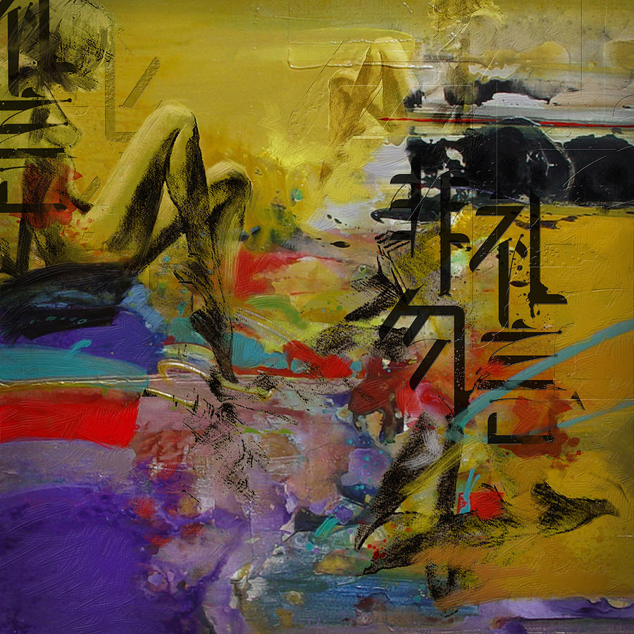 Women Painting - Abstract Women 016 by Corporate Art Task Force