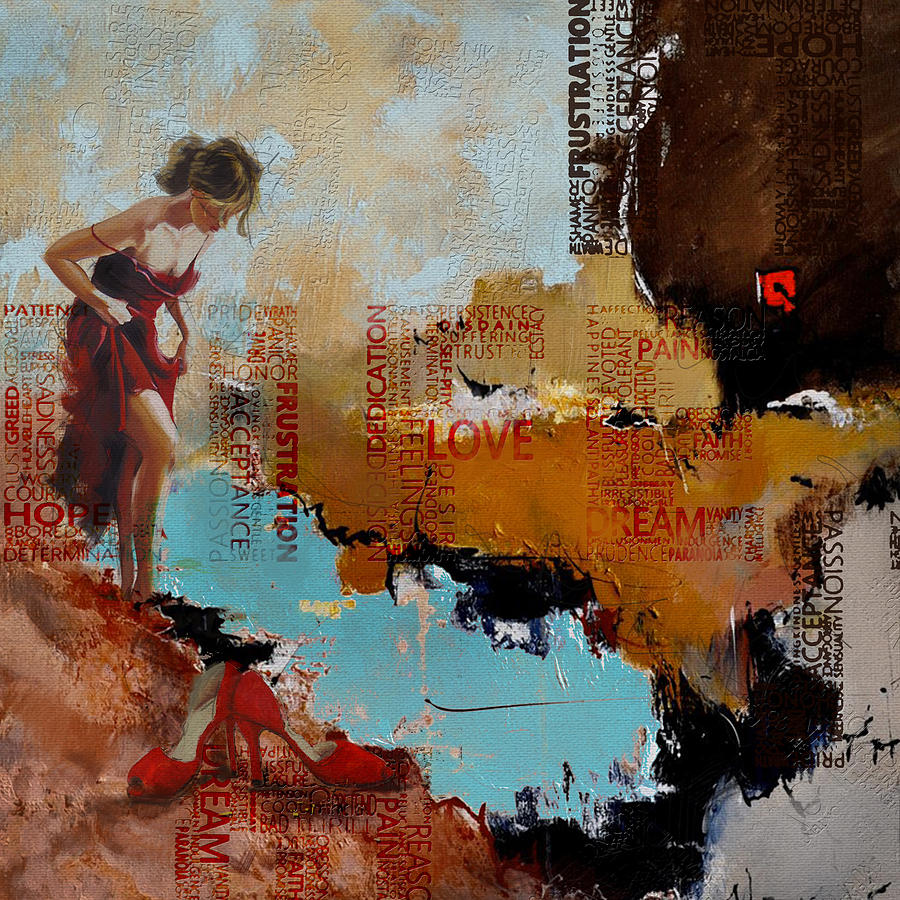 Women Painting - Abstract Women 019 by Corporate Art Task Force