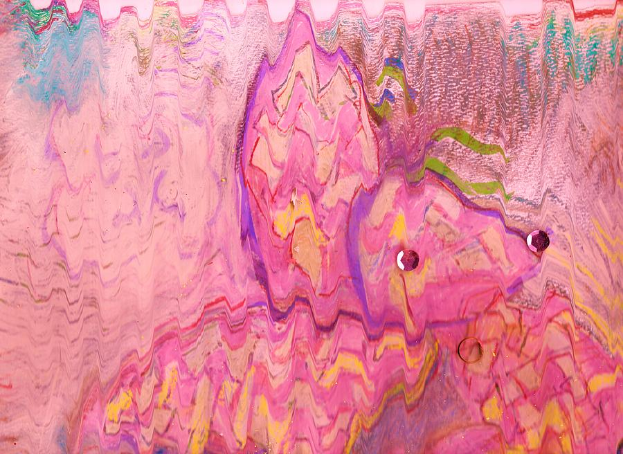 Abstract Mixed Media - Abstract Work In Progesss Butterfly Or Fish by Anne-Elizabeth Whiteway