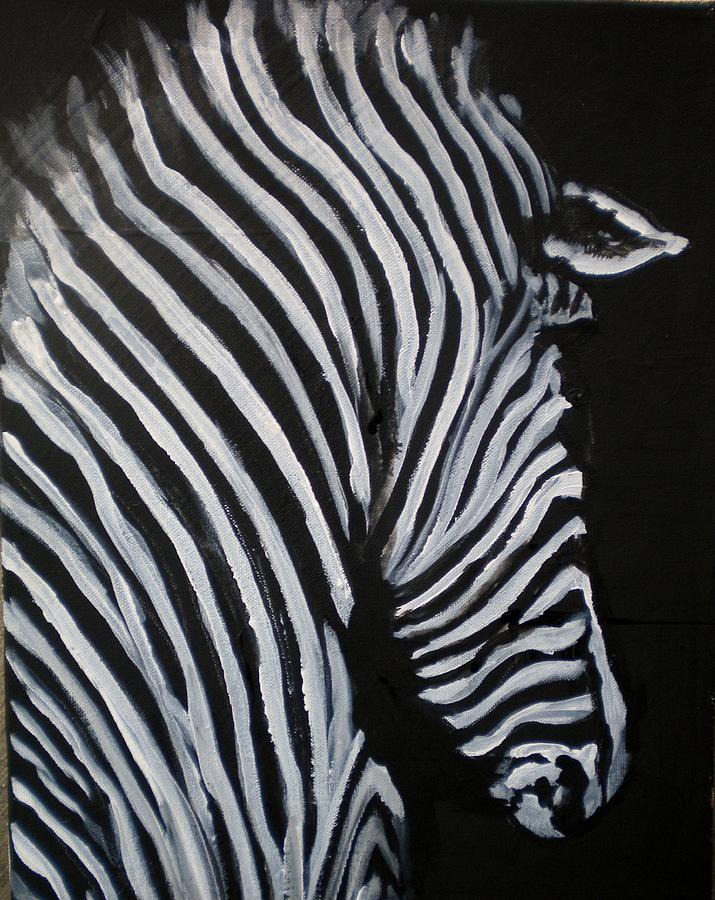 Abstract Zebra Painting by Linda Waidelich