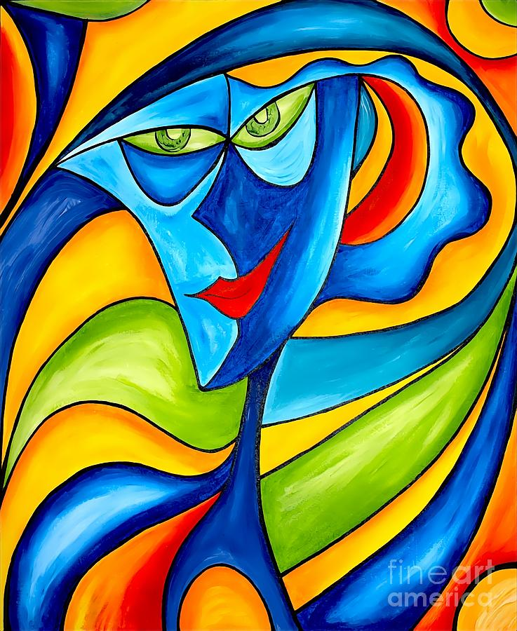 Abstraction Painting - Abstraction 757 - Marucii by Marek Lutek