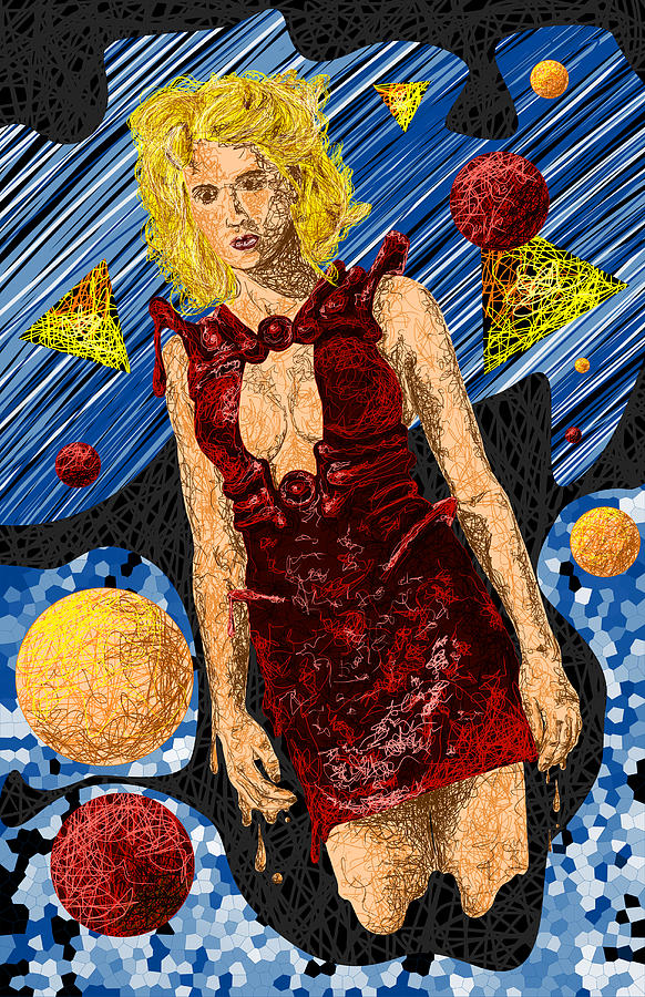 Fashion Art Drawing - Abstraction De Richters Numero Deux by Kenal Louis
