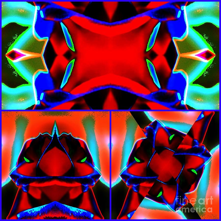 Rose Digital Art - Abstraction by Lorles Lifestyles