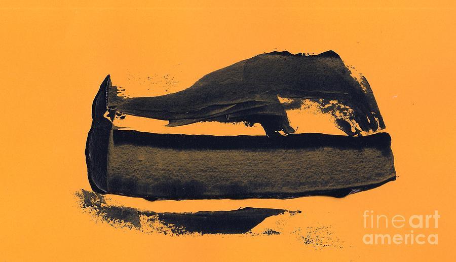 Black Painting - Abstracto Black Yellow by Eliso Ignacio Silva