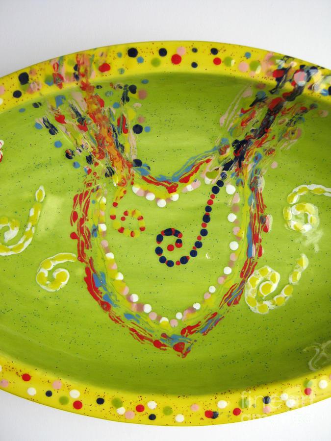 Ceramic Ceramic Art - Abundance Heart Stream by Heidi Sieber