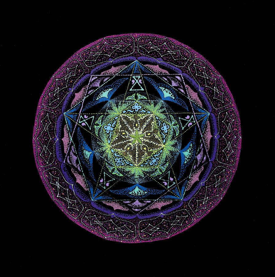 Healing Mandala Painting - Abundance by Keiko Katsuta
