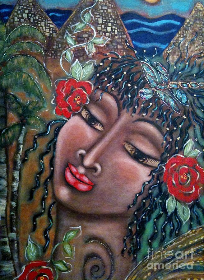 Divine Feminine Painting - Abundance by Maya Telford