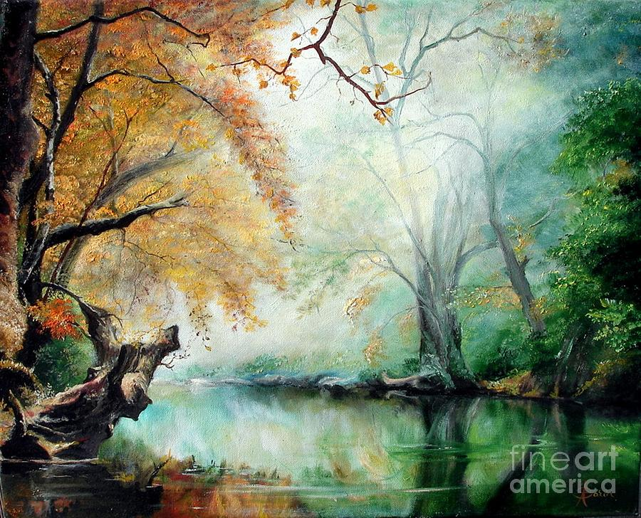Autumn Painting - Abyss by Sorin Apostolescu