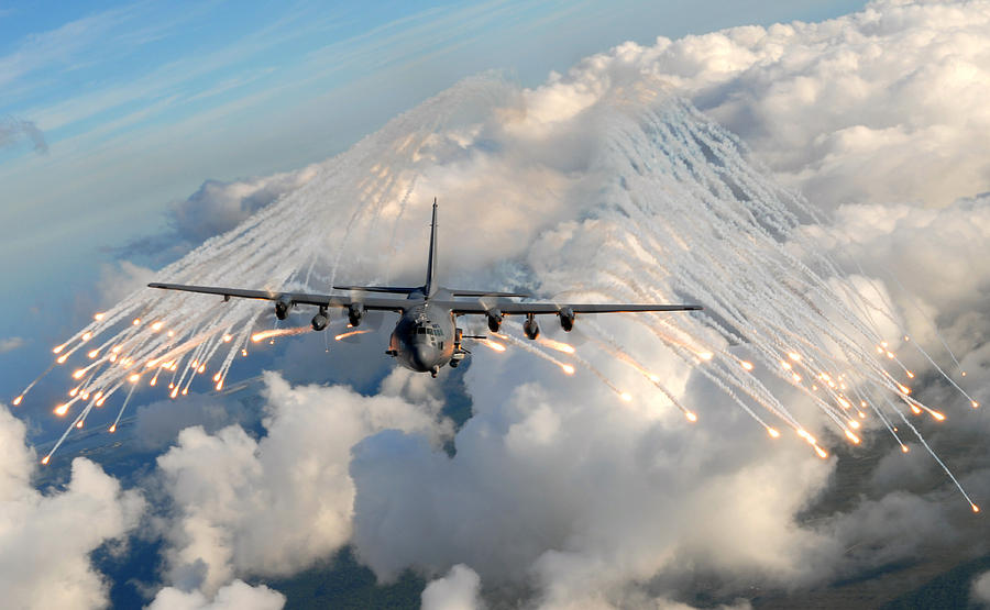 Usaf Photograph - Ac-130h-u Gunship Aircraft by Celestial Images
