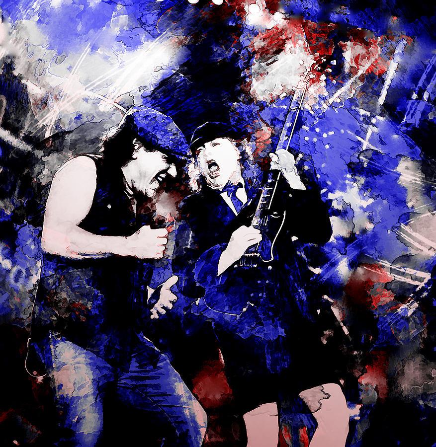 Ac Dc Art : Ac dc painting by rosalina atanasova