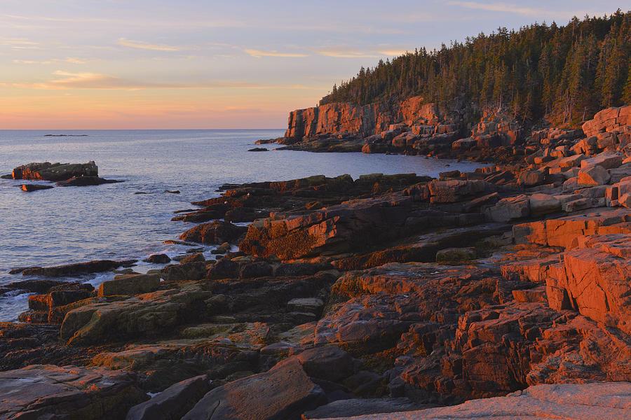 Sunrise Photograph - Acadia Sunrsie by Stephen  Vecchiotti