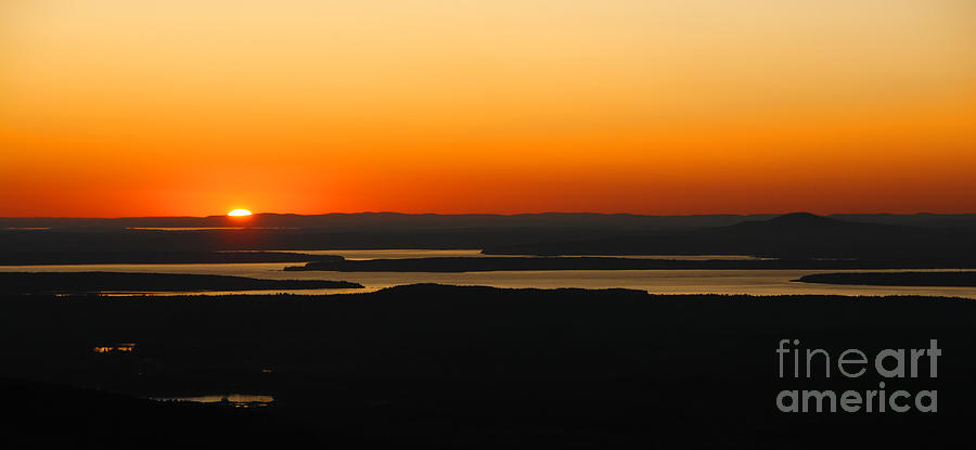 Sunset Photograph - Acadia Sunset by Olivier Le Queinec