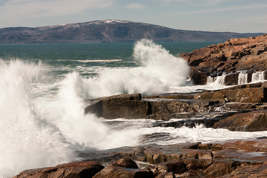 Landscape Photograph - Acadia Waves 4198 by Brent L Ander