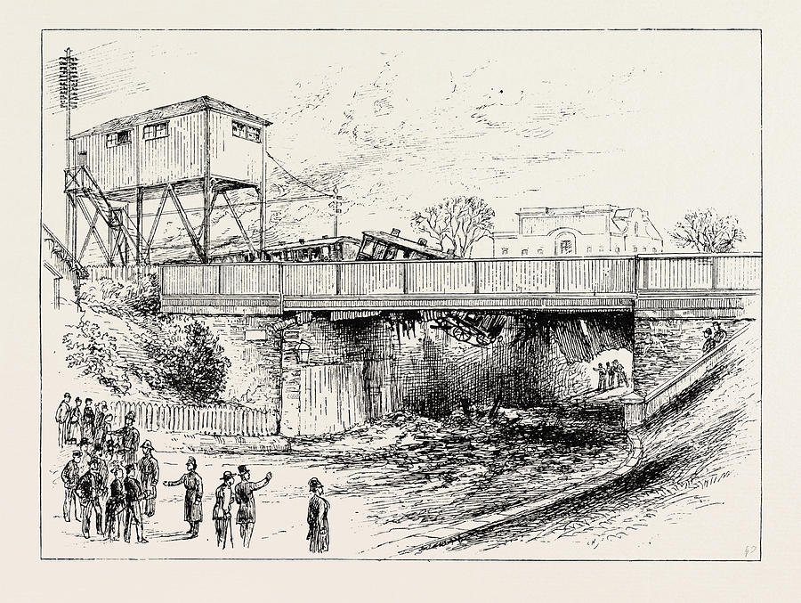 Accident To A Brighton Express Train At Norwood Junction Drawing by ...