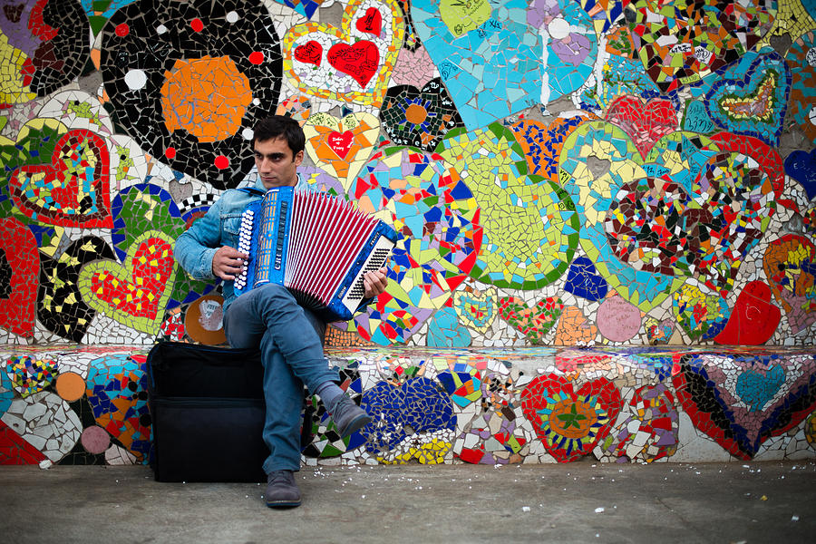 Accordion Photograph - Accordion Player by Pedro Nunez