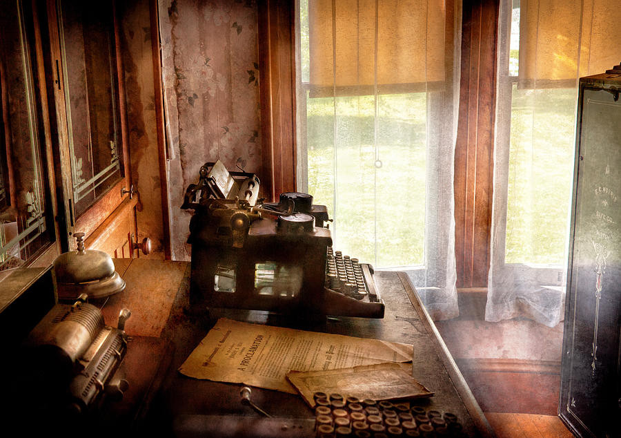 Hdr Photograph - Accountant - My Little Office  by Mike Savad
